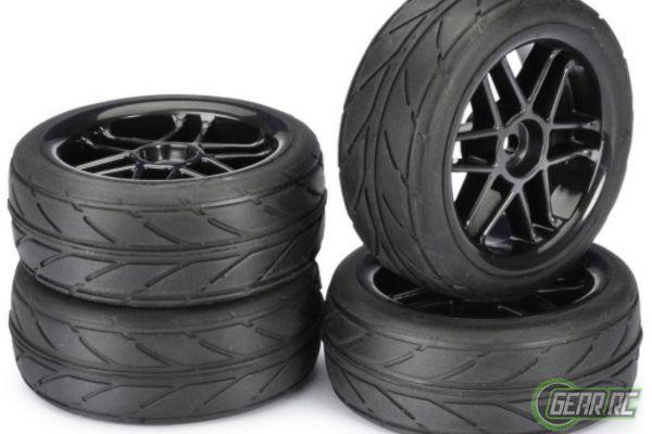 Wheel Set Onroad 6 Spoke Profile black 1op10 4stuks