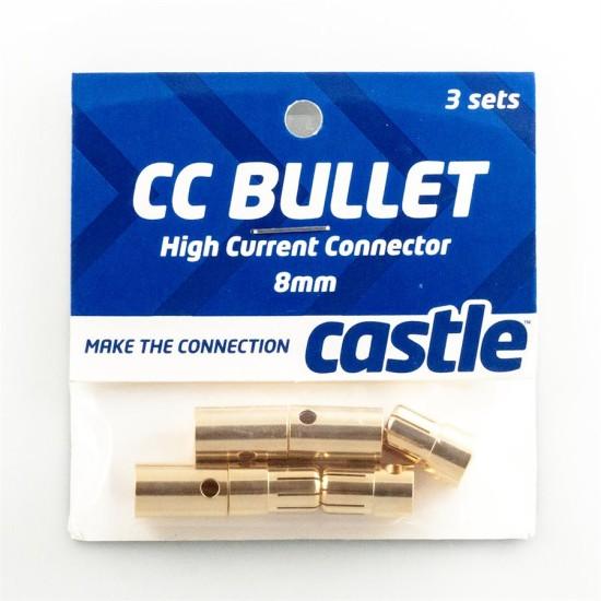 Castle Creations Bullet Connectors 8mm (3 sets M plus F)