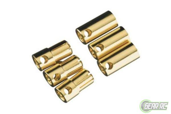 Castle Creations Bullet Connectors 6.5mm (3 sets M+F)