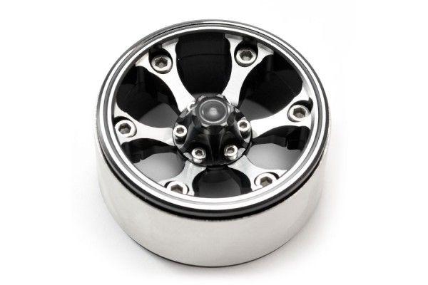"""Fastrax 1.9"""" Heavy Duty 6-Spoke Alloy Beadlock Wheels (106g Each) (2pcs)"""