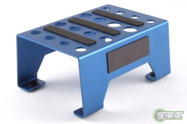Fastrax Aluminium Pit Stand with Magnetic Strip blauw