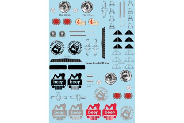 Crawler Add-On stickers 1 for 1/10 Crawlers