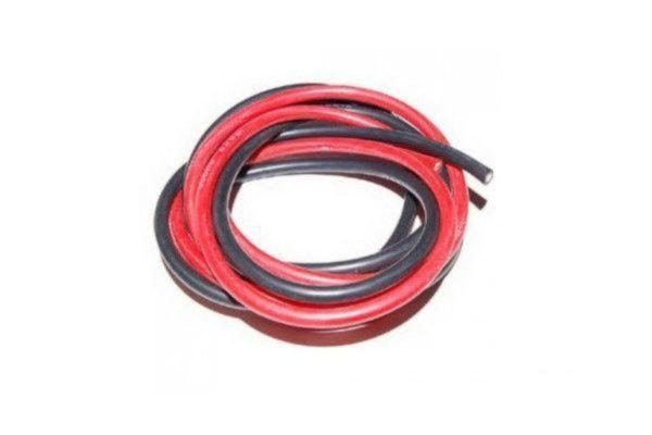 Silicone kabel 4mm 12AWG, (50cm Rood + 50cm Zwart)