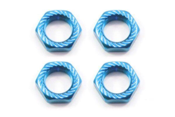 Borgmoer 17 mm (4) fijn draad 1.0, gekarteld, blauw
