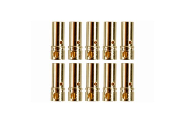 3.5mm Goud contacten bussen 10 stuks
