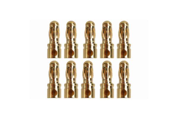 3.5mm Goud contacten stekkers 10 stuks