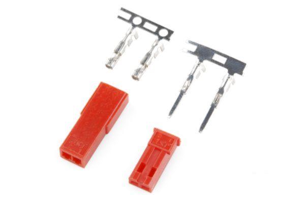 JST  2 pin connector set  BEC stekker(1set)