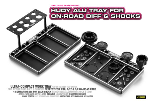HUDY Alu Tray for On-Road Diff & Shocks
