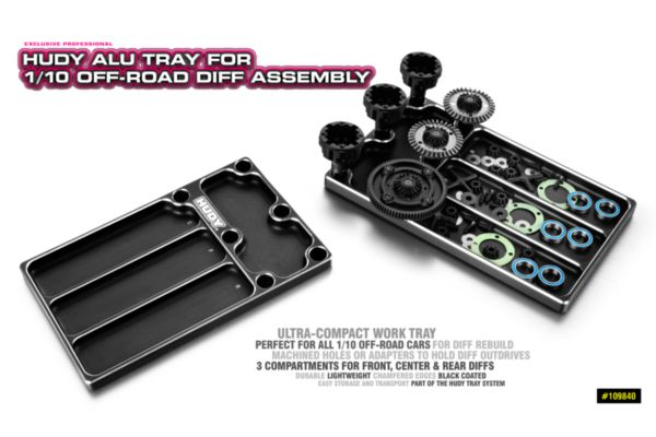 HUDY Alu Tray for 1/10 Off-road Diff Assembly