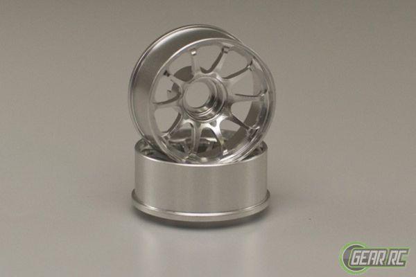 Kyosho MiniZ CE28N wheels narrow 1.5 offset silver