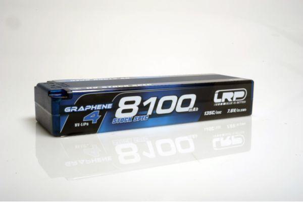 HV Stock Spec GRAPHENE-4 8100mAh Hardcase Akku - 7.6V LiPo - 135C/65C