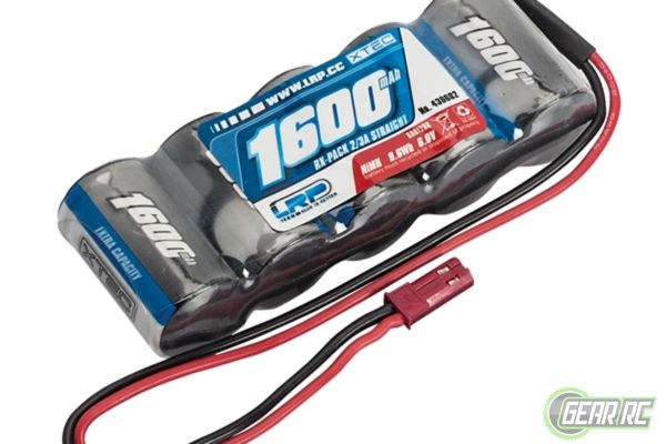 LRP XTEC RX-pack Straight 2/3A NiMH - BEC - 6.0V - 1600mAh