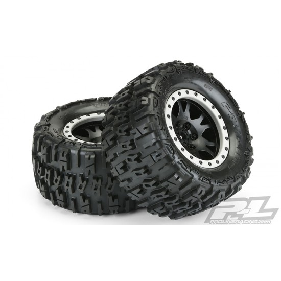 Trencher 4.3 Pro-Loc All Terrain Tires  (2) Mounted on Impulse Pro-Loc Black Whe