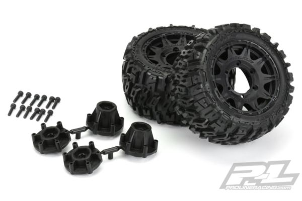 Trencher LP 2.8 All Terrain Tires Mounted on Raid Black 6x30 Removable Hex Wheel
