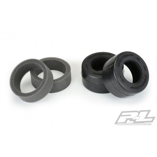 Reaction+ HP Wide SC S3 (Soft) Drag Racing BELTED Tires for Pro-Line + Wide SC Wheels