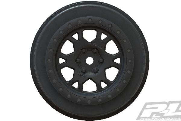 Impulse 2.2/3.0 Black Wheels (2) for SCTE 4x4, SC10 4x4, SCT410 & all ProTrac Ki
