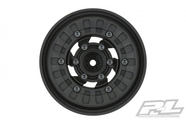 """Vice CrushLock 2.6"""" Black/Black Bead-Loc 6x30 Removable Hex Front or Rear Wheels (2) for 2.6"""" Mud Tires"""