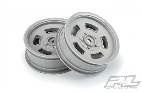 """Slot Mag Drag Spec 2.2"""" Stone Gray Front Wheels (2) for Slash 2wd & AE DR10 (using 2.2"""" 2WD Buggy Front Tires)"""