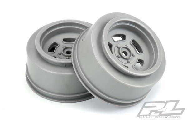 """Slot Mag Drag Spec 2.2""""/3.0"""" Stone Gray Wheels (2) for Slash 2wd and AE DR10 Rear & Slash 4x4 Front or Rear"""