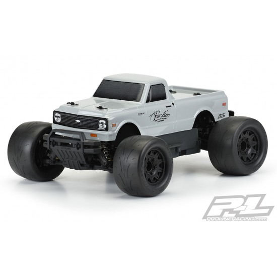 1972 Chevy C-10 Tough-Color (Stone Gray) Body for Stampede & Granite
