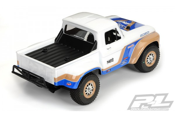 1966 Ford F-100 Clear Body for Slash 2wd, Slash 4x4 & PRO-Fusion SC 4x4 (with extended body mounts)