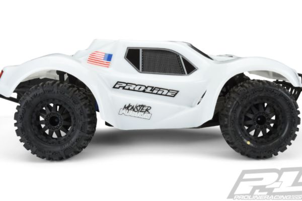 Proline Pre-Cut Monster Fusion Bash Armor Body White for Slash 2wd en Slash 4x4 with 2.8 tyres