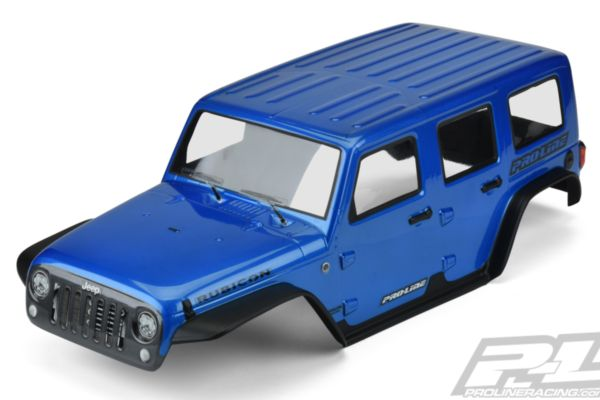 Pre-Painted / Pre-Cut Jeep® Wrangler Unlimited Rubicon (Blue) Body for 12.8 Whee