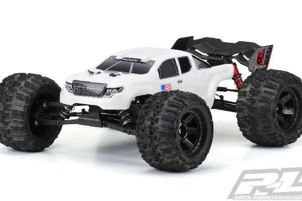 Pre-Cut Brute Bash Armor (White) Body for ARRMA Kraton