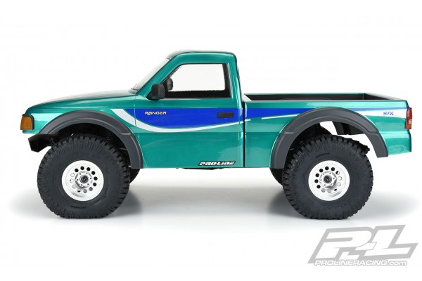 """1993 Ford Ranger Clear Body Set with Scale Molded Accessories for 12.3"""" (313mm) Wheelbase Scale Crawlers"""