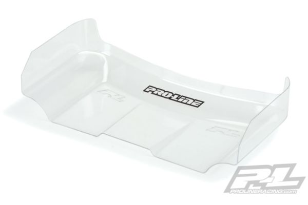 """Pre-Cut Air Force 2 HD 6.5"""" Clear Rear Wing (1) for 1:10 Buggy"""