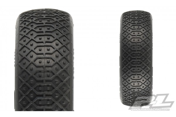 "Electron 2.2"" 2WD MC (Clay) Off-Road Buggy Tires Mounted on Velocity Yellow Wheels for TLR 22 5.0 2WD Buggy Front"