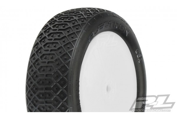 "Electron 2.2"" 2WD MC (Clay) Off-Road Buggy Tires Mounted on Velocity White Wheels for TLR 22 5.0 2WD Buggy Front"