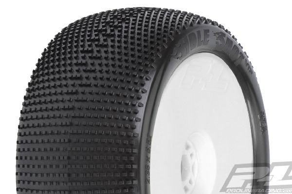 Hole Shot 4.0 S3 (Soft) Off-Road 1:8 Truck Tires Mounted on White Zero Offset Wh