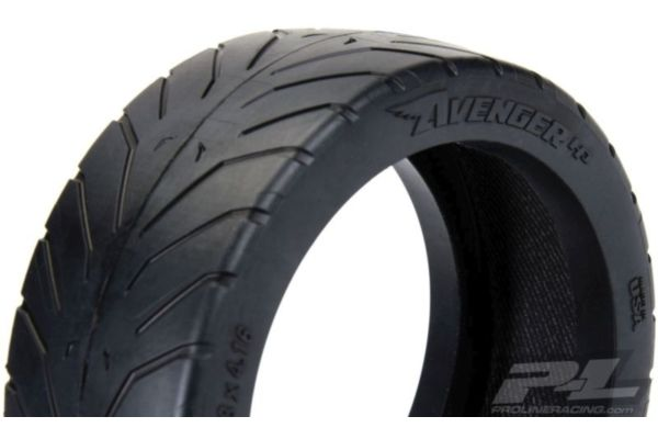 Avenger HP S3 (Soft) Street BELTED 1:8 Buggy Tires Mounted on Velocity black wheel