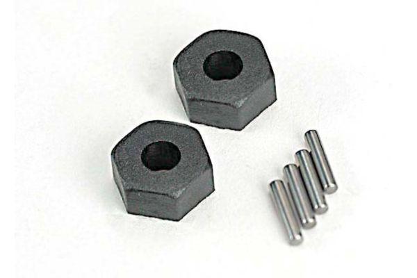 Wheel hubs, hex (2)/ stub axle pins (2)
