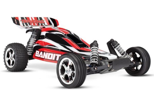 Traxxas Bandit RTR 2.4GHz TQ  met batterij en 12v lader rood