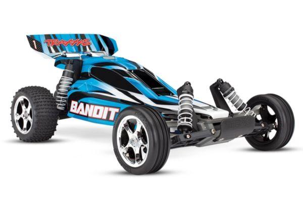 Traxxas Bandit RTR 2.4GHz TQ blauw (zonder batterij en lader)