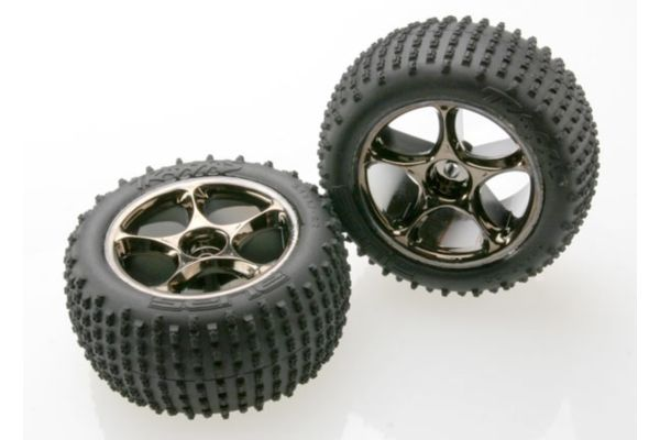 Tires & wheels, assembled (Tracer 2.2 black chrome wheels, A