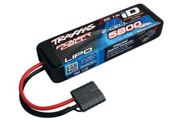Power Cell LiPo 5800mAh 7.4V 2S 25C , all models  ID