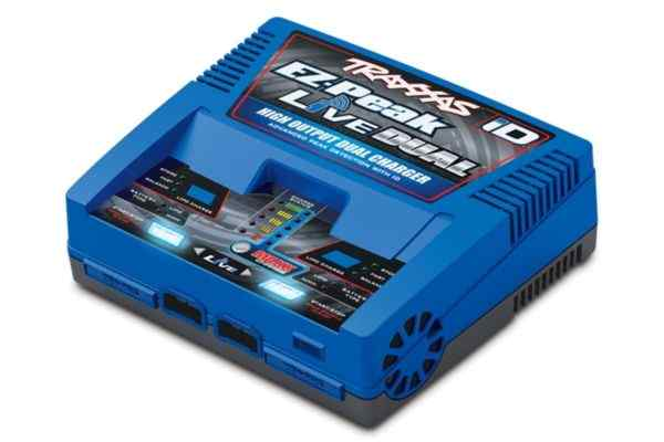 Traxxas EZ-Peak Live Duo lader 200W nimh LiPo with iD Auto Bat EU