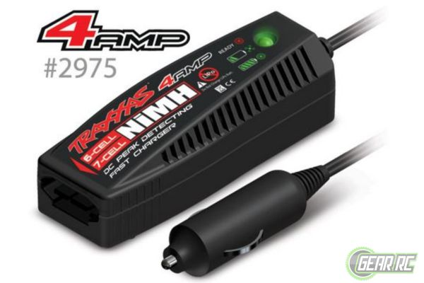 Charger, DC, 4 amp (6 - 7 cell7.2 - 8.4 volt, NiMH)