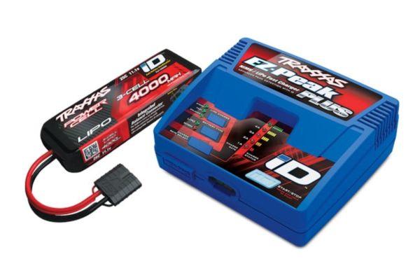 Traxxas 3S set (1X 2849X 11.1V LiPo & 1X 2970G ID charger