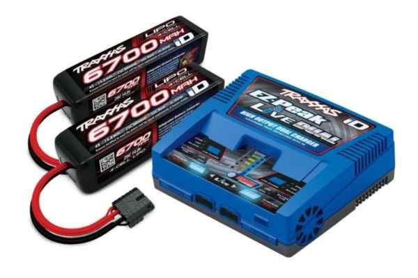 Traxxas EZ-Peak Live Duo lader 200W  2890X 6700mAh 14.8V 4-cell 25C LiPo battery (2)