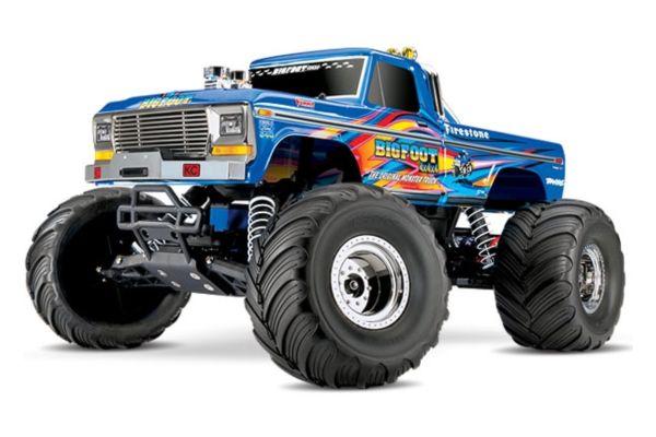 Traxxas BigFoot No. 1 the original Monster Truck BlueX met accu en 12v lader
