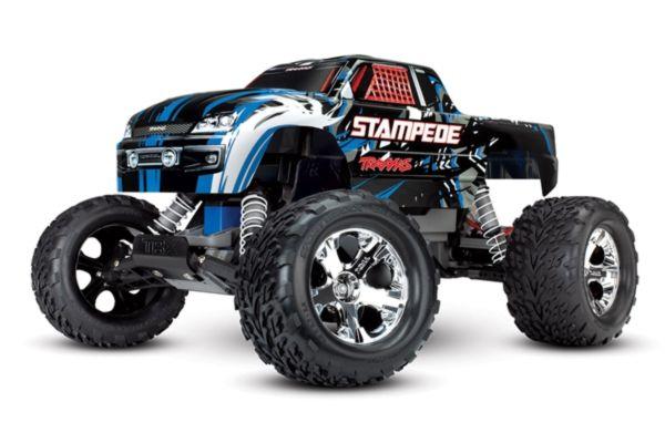 Traxxas Stampede RTR 2.4GHz met batterij en 12v lader blauw
