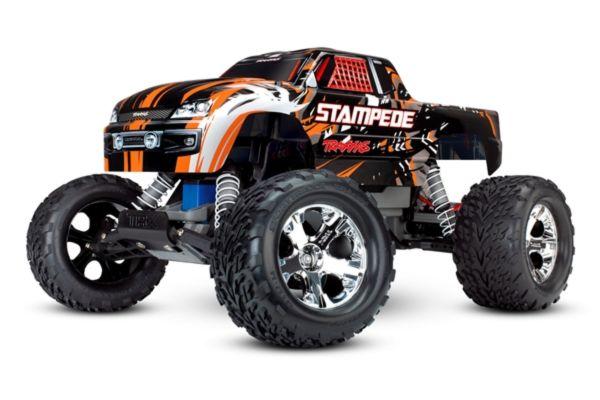 Traxxas Stampede RTR 2.4GHz met batterij en 12v lader oranje