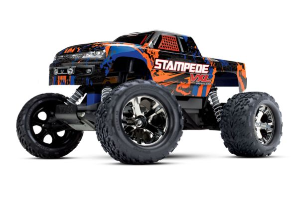 Traxxas Stampede VXL Brushless TSM oranje zonder batterij en lader