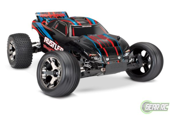 Traxxas Rustler VXL Brushless  red With TSM  No battery / Charger