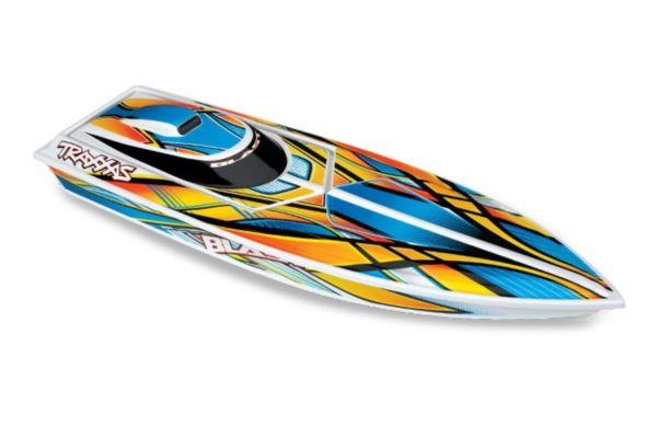 Traxxas Blast RTR TQ 2.4GHz High Performance Boat oranje 12volt lader en accu
