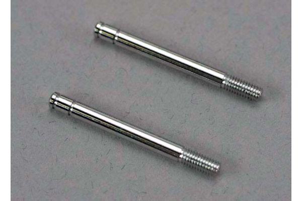 Shock shafts, steel, chrome finish (32mm) (2)